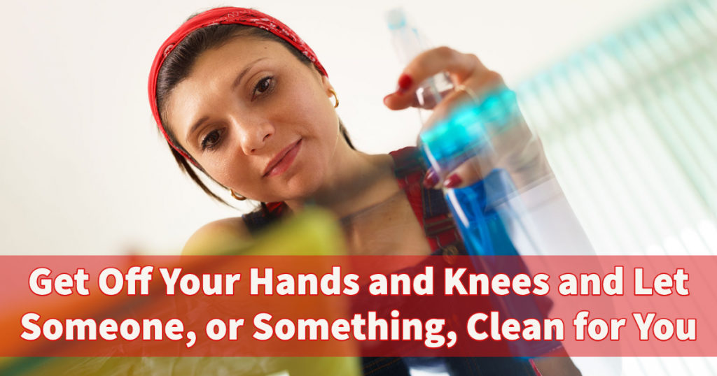 hands and knees cleaning
